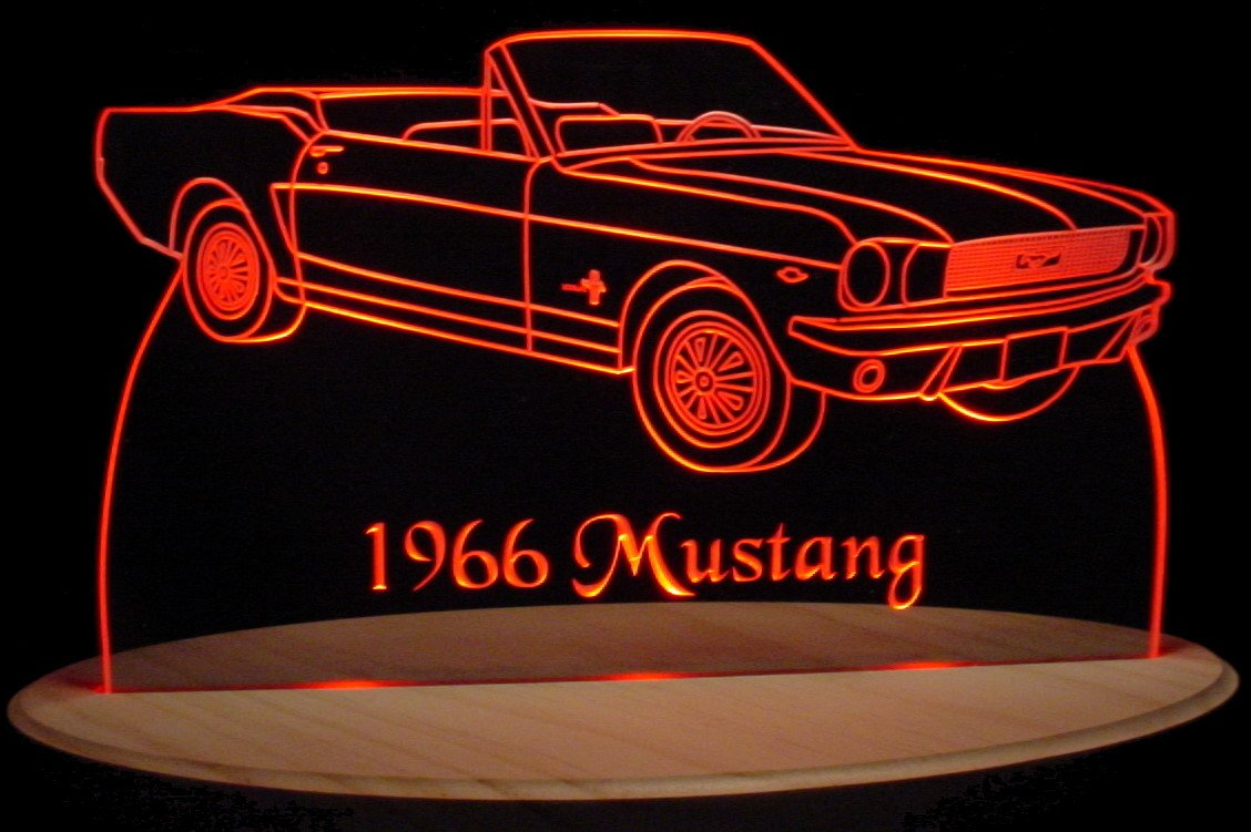 Amazon com valleydesignsnd 1966 mustang convertible acrylic lighted