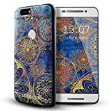 Nexus 6p case,Lizimandu TPU Soft Texture Case for Nexus 6p case(Blue Flower)