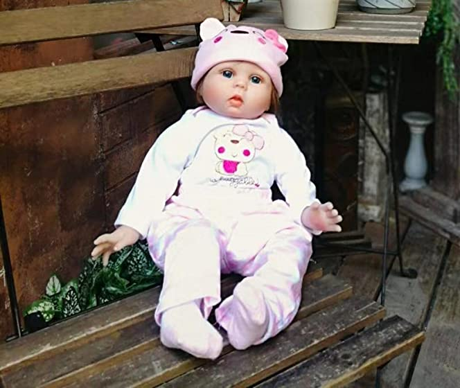 Minidiva Reborn Baby Dolls 22 inch,Quality Realistic Handmade Babies Dolls Girls Soft Vinyl Silicone Lifelike Kids Gifts / Toys Age 3+, EN71 Certification Realistic doll for a great price