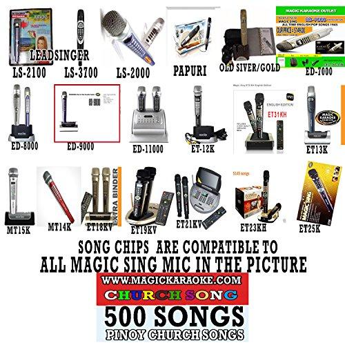 Entertech Magic Sing Leadsinger Karaoke MIC 500 Very Popular Church Song Chips