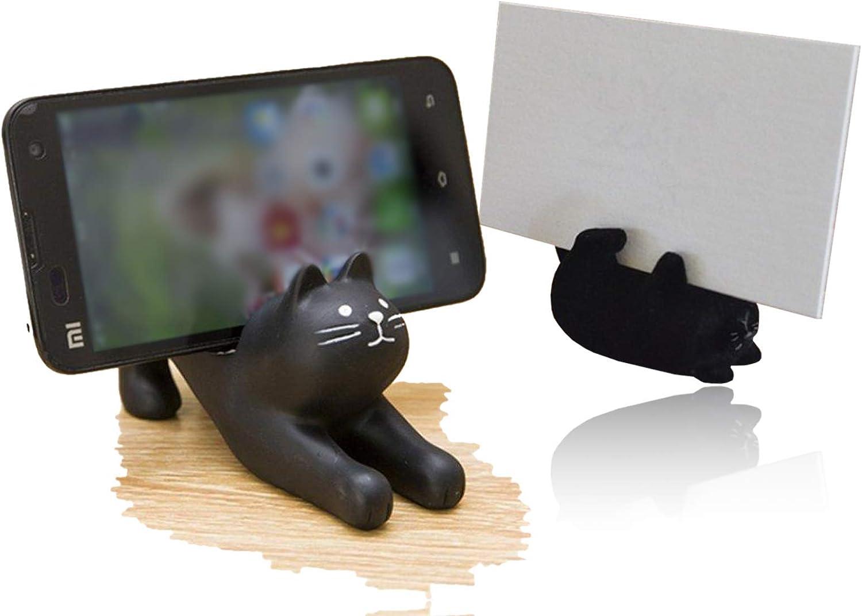 Amazon Com Decole Cat Cell Phone Holder Cute Cat Novelty Set For Desk