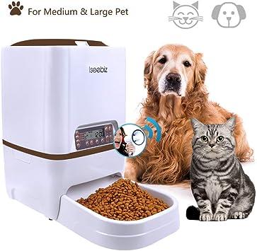 Iseebiz 6 L Comedero Automatico para Perros/Gatos con 4 Comidas ...