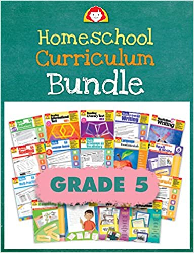 Evan-Moor Homeschool Curriculum Bundle, Grade 5, Complete