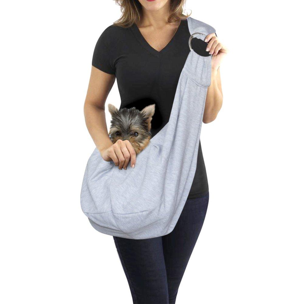 Tacobear Medium Dog Carrier Pet Sling Bag with Adjustable Strap Hands-Free Outdoor Tote Travel Reversible Bag