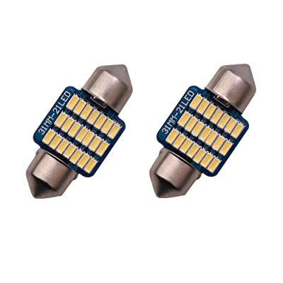 1797 LED Dome Light Bulbs DE3175 DE3021 DE3022 31mm Warm White 3000K 3014 SMD for Cars Map License Plate Trunk Interior Reading Lights Lamps Replacement Festoon Bright 12V 3W 1 Year Warranty 1.22in: Automotive