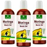 Moringa Öl 300ml von MoriVeda - Basis Öl aus Oleifera Ölsamen und Ölschoten für Hautpflege, Haarpflege, Wundpflege, Anti-Aging (3x100ml)
