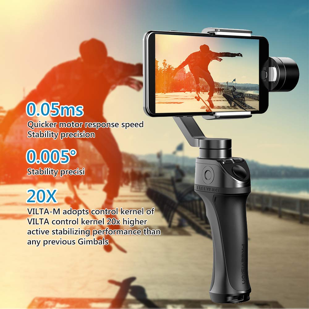 Freevision Vilta 3 Axis Handheld Stabilizer Gimbal For Phones Kernel L Bracket Flash Light Adjustable Holder Mount Dslr Camera Actions Cameras Black M Electronics