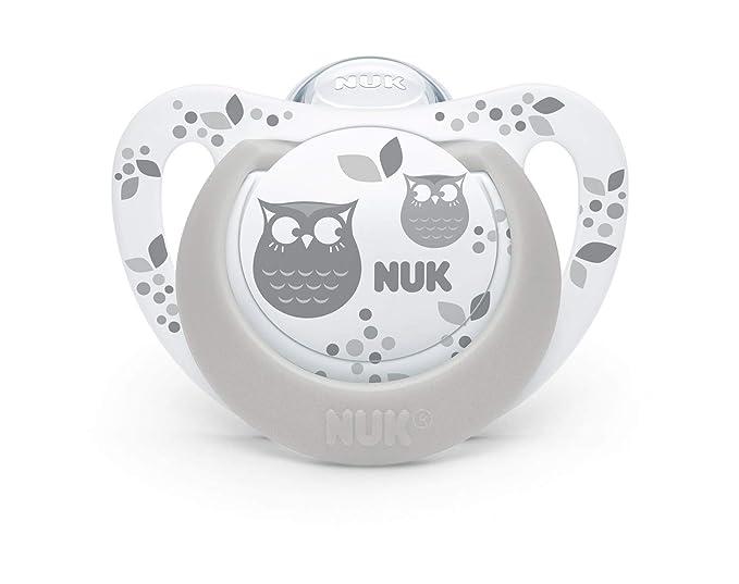 2 chupetes NUK de silicona modelo Genius, con ajuste para la ...