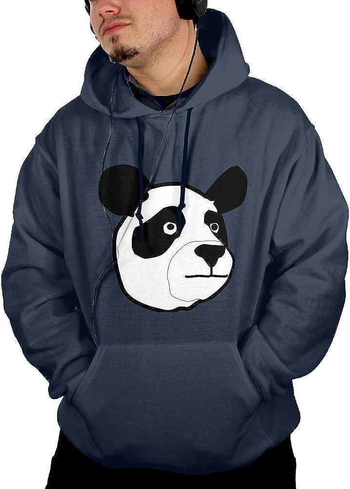 JIN YONG Lovely Panda Head Men Cotton Long Sleeved Pullover Casual Hoodies Hooded Sweatshirt Graphic Hoodie