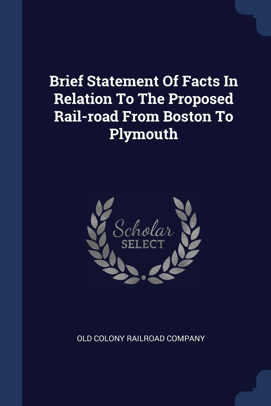 Read Online Brief Statement Of Facts In Relation To The Proposed Rail-road From Boston To Plymouth ebook
