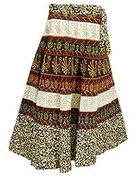 India Clothing Cotton Skirt Designer Wrap Around Dresses
