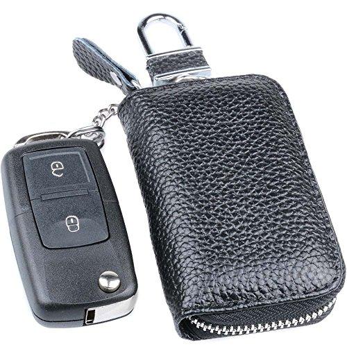 Semoss Multifonction Coque Porte Clé en Véritable Cuir pour Femme et Homme Etui  Portefeuille Trousseau voiture 344703c9f17