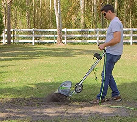 Earthwise TC70001 Electric Tiller/Cultivator, Grey, 11, 8.5-Amp Corded 11