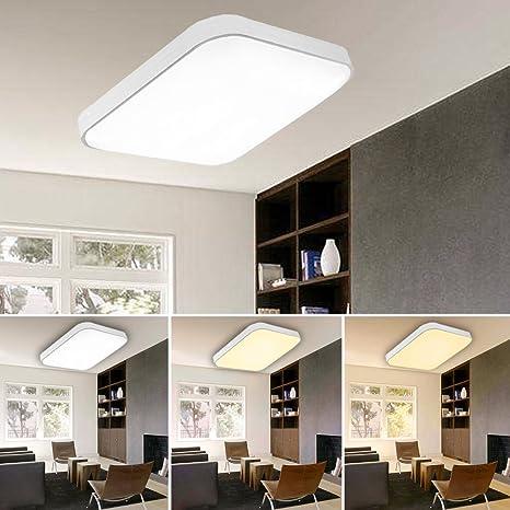 VINGO 50W LED Deckenleuchte Farbwechsel Wohnraumleuchten Wand-Deckenleuchte  Innenleuchte Beleuchtung Ultraslim Licht aus Schlafzimmer Büros Keller