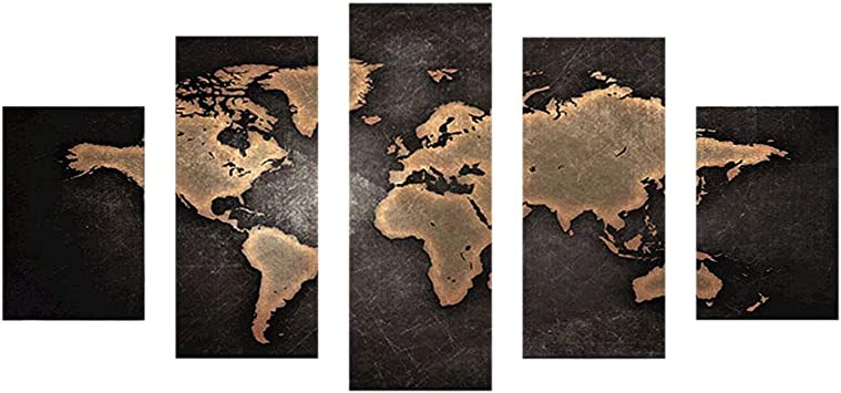 5D Diamond Painting Kit complet Grande Taille Carte du monde abstrait Strass Cristal Point de Croix Adulte DIY Broderie Peinture en Diamant Salon Chambre D/écor Murale Cadeau 30x60cm X2519
