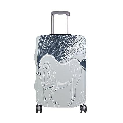 THUNANA Funda para maletas de viaje, diseño de unicornio de nieve, 18 – 20