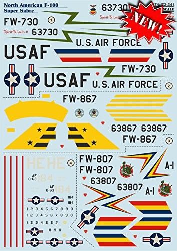 Super Scale Decals - DECAL FOR AIRPLANE F-100
