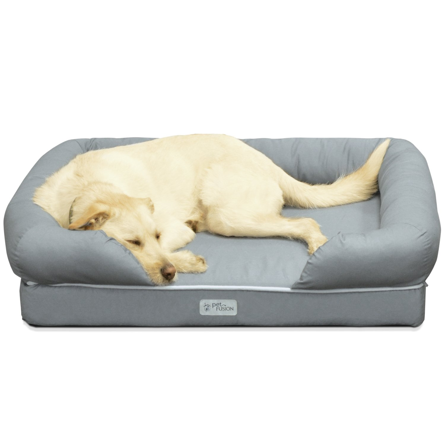 "Amazon PetFusion Ultimate Solid 4"" Memory Foam Dog Bed for"