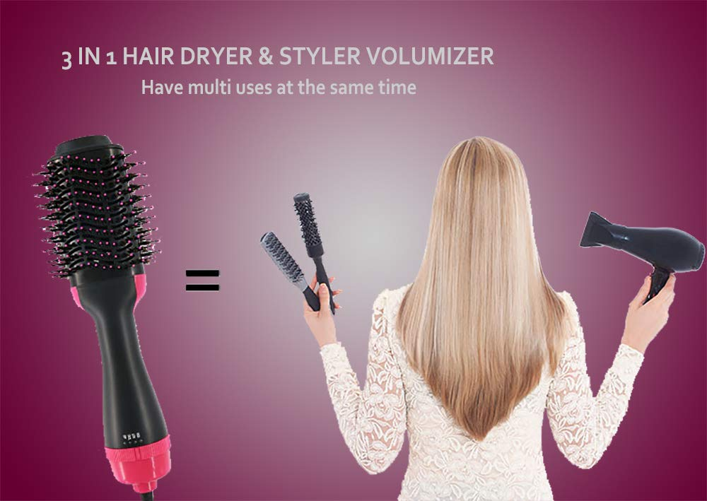 One Step Hair Dryer and Styler Volumizer, Hair Dryer Brush, Hot Air Brush, 3 in 1 Smooth Frizz with Ionic Technology Brush by ROUNDSQUARE by ROUNDSQUARE (Image #4)