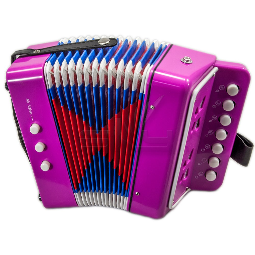 B018A4GAF6 SKY Accordion Hot Pink Color 7 Button 2 Bass Kid Music Instrument Easy to Play 61-DS8ymB2L