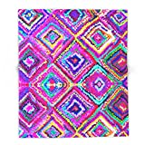 Society6 A Trip To India In Cerulean Blue And Violet 88'' x 104'' Blanket
