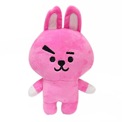 Teblacker BTS Plush Toy, Kpop Bangtan Boys TATA, KOYA, Van, SHOOKY, CHIMMY, Cooky, MANG, RJ Soft Cotton Plush Pillow for Sofa, Bedroom, Living Room and Car( Style A - Cooky): Toys & Games