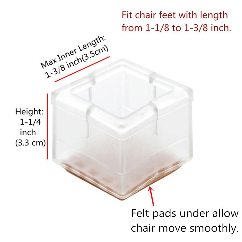 Kitchen Chair Leg Floor Protectors Amazoncom Melonboat Chair Leg Feet Wood Floor Protectors Set