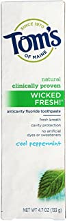 product image for Tom's of Maine Natural Wicked Fresh Fluoride Toothpaste Cool Peppermint 4.70 oz (Pack of 6)