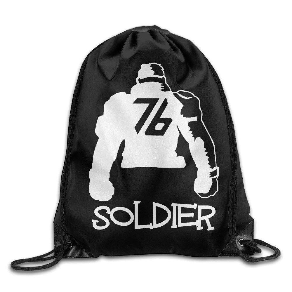 Overwatch Soldier 76 巾着バッグ ジョギングバックパック スポーツバッグ メンズ&レディース バックパック ティーン用 B01M1668G5 ホワイト One Size