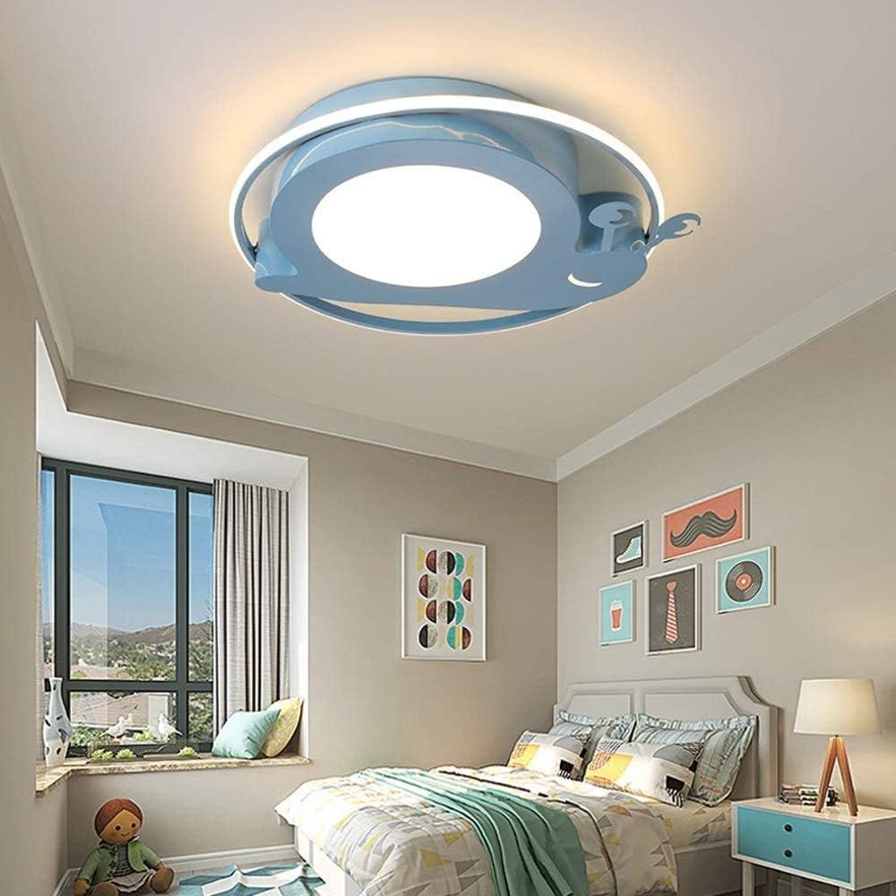 WoShen Chandelier Lighting Lamp Children's Room Ceiling Lights Fashion Cartoon Girl Boy Girl Child Princess Room Led Eye with Φ50cm (Color : Blue)