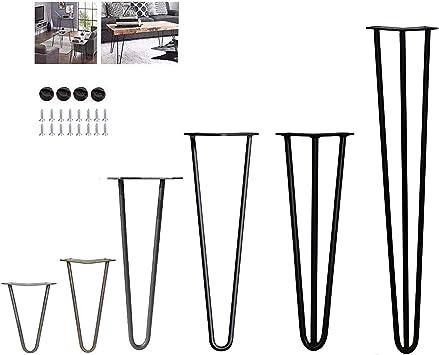 4 patas de mesa de horquilla – estable altura de mesa estándar ...