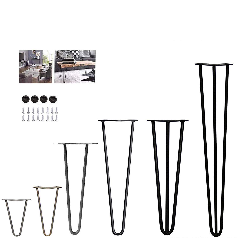 4 patas de mesa de horquilla - estable altura de mesa estándar ...
