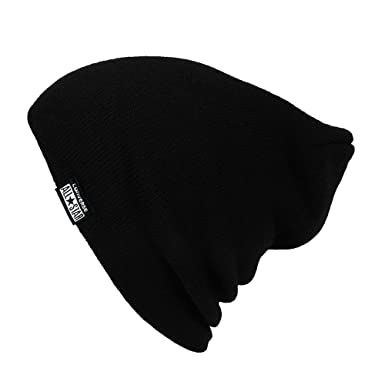 d9ce8b88a3c Converse All Star Solid Slouch Beanie Black  Amazon.co.uk  Clothing