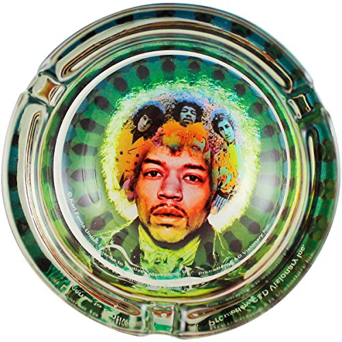 (C&D Visionary J. Hendrix Face Glass Ashtray)