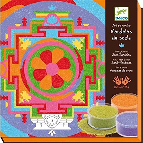 (Djeco Colored Sand Art Kit, Tibetan Mandalas)