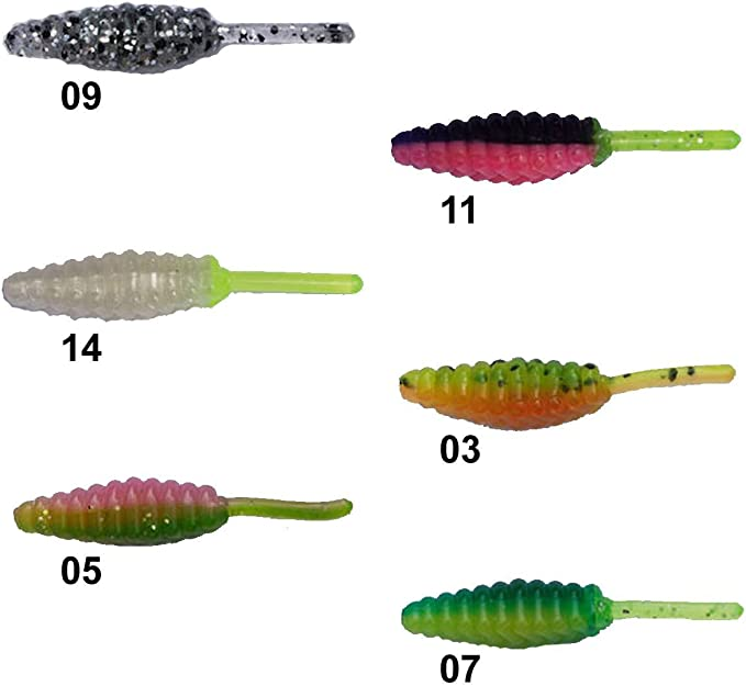 Big Bite Baits Ballzy Soft Bait 10 pack Panfish /& Trout Soft Plastic Bait