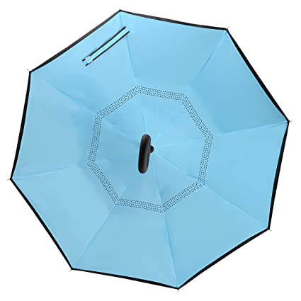 Amazon.com: Amago paraguas invertido, reverso mango largo ...