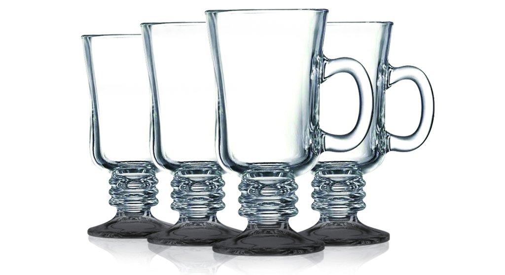 Black Irish Coffee Mug Fully Colored - 8.5 oz. set of 4- Additional Vibrant Colors Available