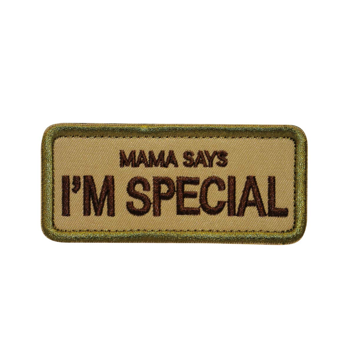 Cobra Tactical Solutions Military Embroidery Moral Patch | Mama Says I'm Special with Hook & Loop for Airsoft/Paintball