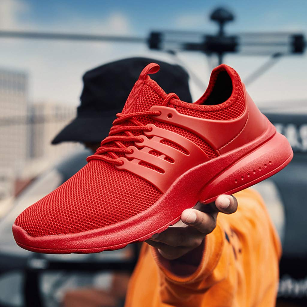 4Clovers Womens Mens Breathable Mesh Sport Running Shoes Sneakers