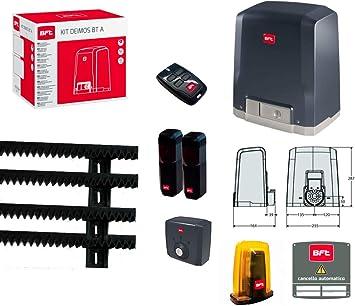 Kit de puerta deslizante con motor BFT Deimos BT A400, 400 kg Matic Line 03: Amazon.es: Bricolaje y herramientas
