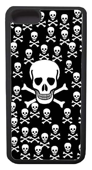 Amazon com: Custom iPhone 7 Cases - Skull Wallpaper Hard