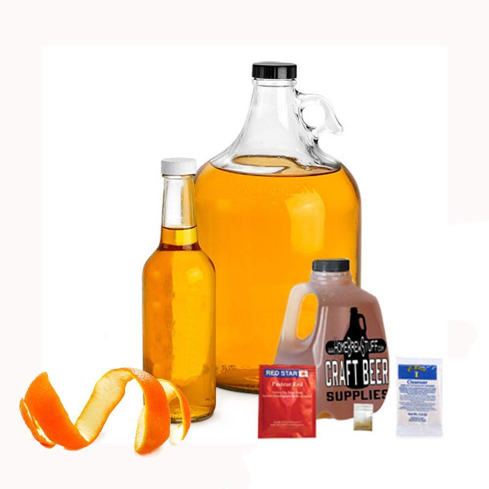 HomeBrewStuff Basic 1 Gallon Nano-Meadery Orange and Honey Mead Recipe Refill Kit