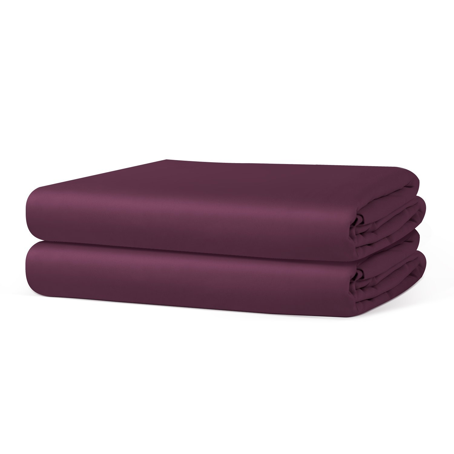 Fitted Sheet (2-Pack) - Soft-Brushed Microfiber with Deep Pocket - Purple