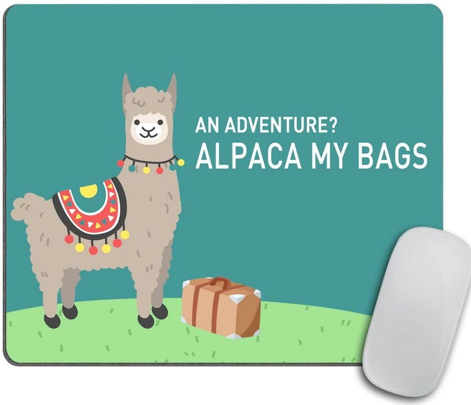 Alpaca - Mouse Pad - Funny Llama Gift - Travel Gifts for Mom - Mousepad - Office Decor - Desk Accessories - Cute Llama Gift