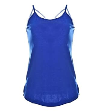 939cc29499e3f3 Frozac Summer New Sexy Women Tank Top Ladiesole Sleeveless Strap Vest Backless  Tops Solid Criss Cross Loose Crop Top at Amazon Women's Clothing store: