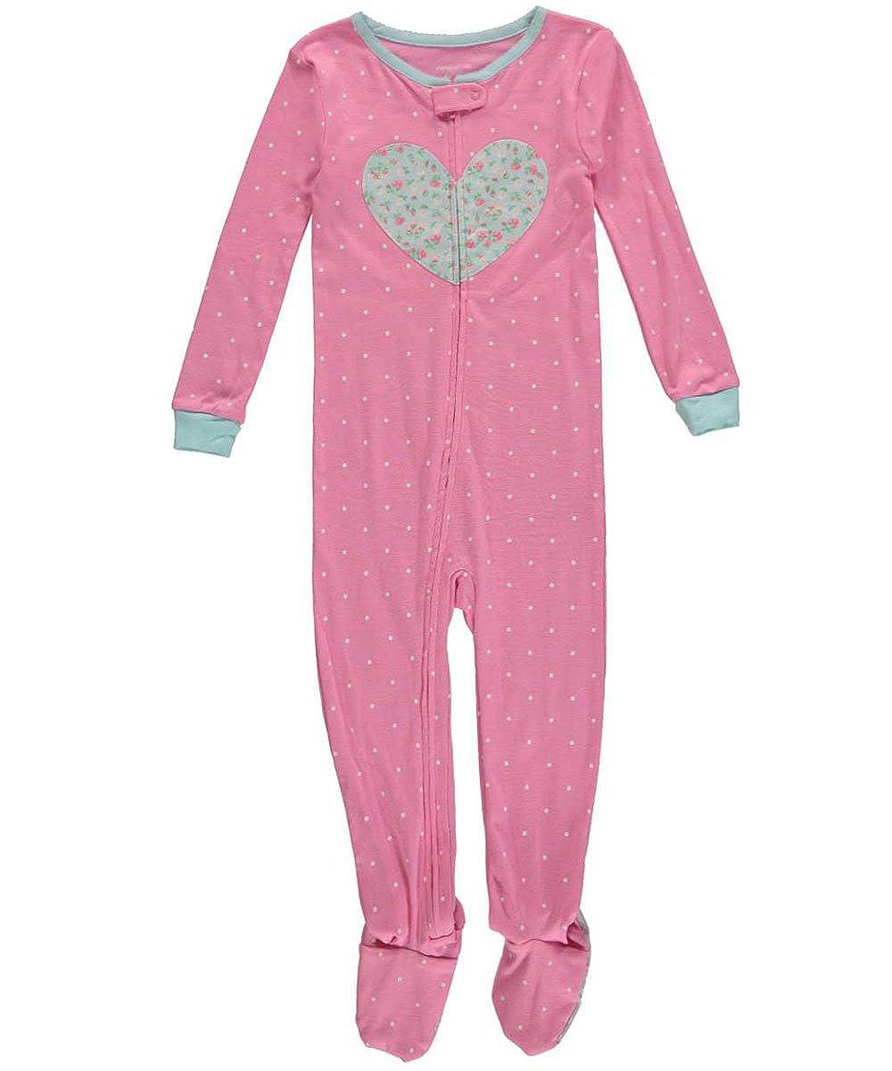 cc7375430b29 Amazon.com  Carter s Baby Girl Pink Cotton Footed Heart Sleeper ...