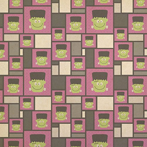 Frankenstein Halloween Kraft Present Gift Wrap Wrapping