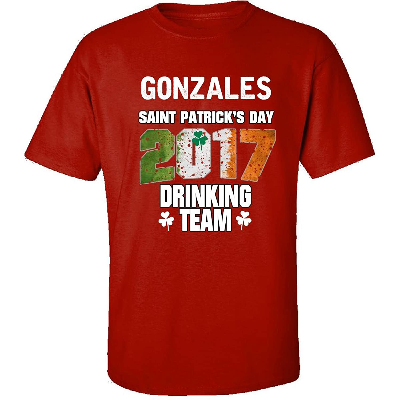 Gonzales Irish St Patricks Day 2017 Drinking Team - Adult Shirt