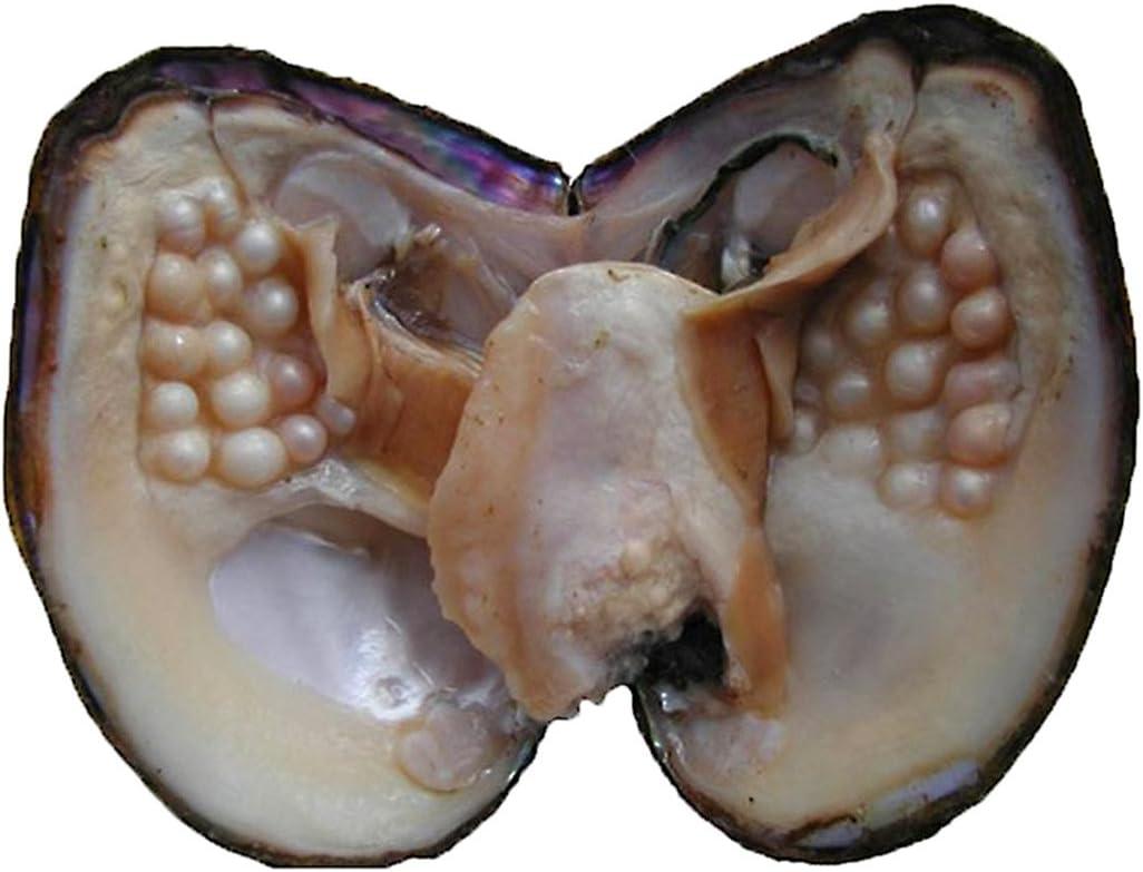 Ostra con 20-25perlas ovaladas cultivadas en agua dulce de 5 - 7 mm